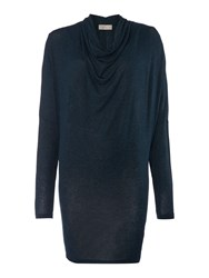 Label Lab Jersey Knit Cowl Long Sleeve Dress Dark Teal