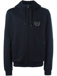 Dolce And Gabbana Crown Patch Hoodie Blue