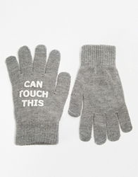 Monki Smart Phones Gloves Grey
