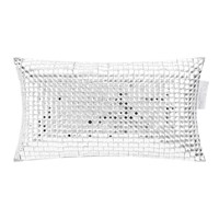 Kylie Minogue At Home Square Diamond Bed Cushion 18X32cm Silver