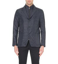 Corneliani Quilted Removable Insert Shell Jacket Navy
