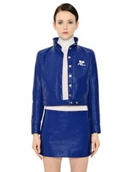 Courreges Cropped Vinyl Cotton Jacket