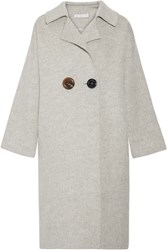Rejina Pyo Kate Color Block Alpaca And Wool Blend Coat Gray
