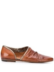 Pantanetti Cut Out Shoes Brown
