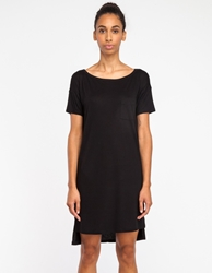 Alexander Wang Classic Boatneck Dress In Black
