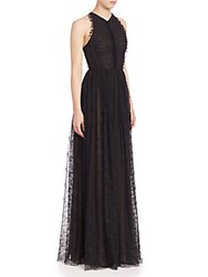 Jason Wu Sleeveless Lace Gown Black