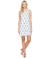 Hatley Trapeze Dress Porcelain Navy White Floral Women's Dress