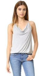 Haute Hippie Cowl Tank Light Heather Grey