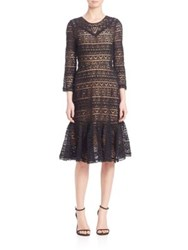 Rebecca Taylor Stained Glass Lace Dress Black