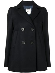 Semicouture Double Breasted Coat Blue