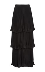 Co Pleated Tiered Skirt Black