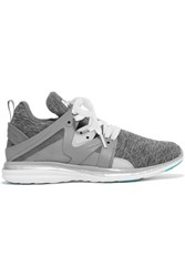 Athletic Propulsion Labs Ascend Techloom Quilted Jersey And Rubber Sneakers Gray