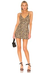 Adam Selman Mini Dress Brown