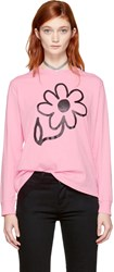 Ashley Williams Ssense Exclusive Pink Long Sleeve Flower T Shirt