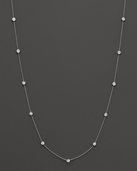 Bloomingdale's Diamond Station Necklace In 14K White Gold 1.0 Ct. T.W.