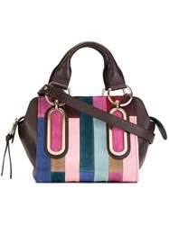 See By Chloe Patchwork Paige Tote Pink Purple