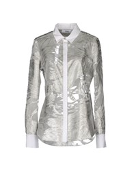 Prabal Gurung Long Sleeve Shirts Silver