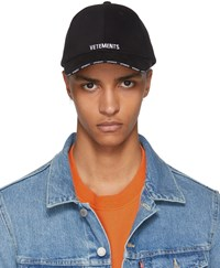 Vetements Black Logo Baseball Cap