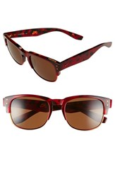 Women's Nike 'Volition' 54Mm Sunglasses Red Tortoise