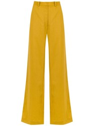 Andrea Marques Palazzo Trousers Yellow