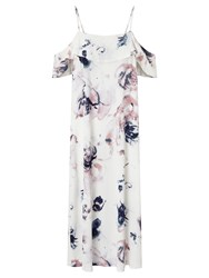 Minimum Biba Floral Print Dress White