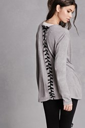 Forever 21 Lace Up Back Cardigan