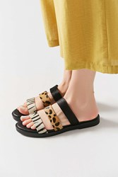 Urban Outfitters Olivia Animal Print Slide Brown