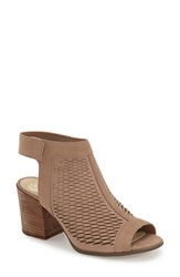 Women's Vince Camuto 'Lavette' Perforated Peep Toe Bootie Cashmere