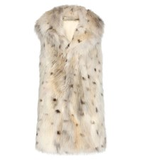 Saint Laurent Fur Gillet White