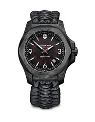 Victorinox I.N.O.X. Carbon Stainless Steel And Paracord Strap Watch Black