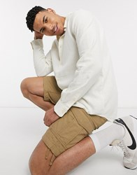 Weekday Lead Soft Touch Linen Shirt White