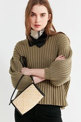 Urban Outfitters Uo Connie Straw Crossbody Bag Black