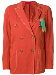 The Gigi Double Breasted Blazer Red
