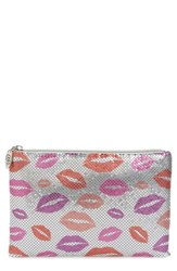 Whiting And Davis Kisses Metallic Clutch Red Red Multi