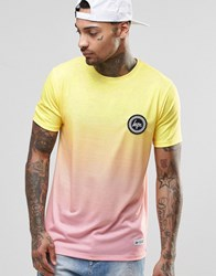 Hype Gradient T Shirt With Crest Logo Yellow