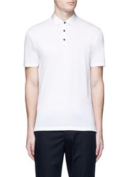 Lanvin Ribbon Collar Polo Shirt White