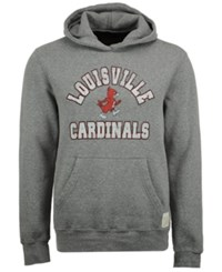 Retro Brand Men's Louisville Cardinals Tri Blend Fleece Hoodie Gray