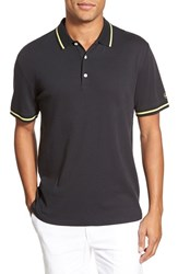 Ag Jeans Men's Ag 'University' Trim Fit Stripe Tipped Jersey Polo