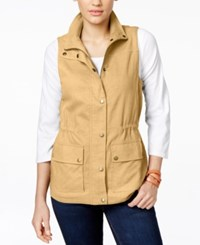 G.H. Bass And Co. Button Down Vest Latte