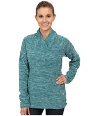 Mountain Hardwear Snowpass Fleece Pullover Heather Teal Green Women's Sweatshirt Blue