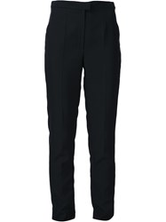 Maison Martin Margiela Maison Margiela High Waisted Slim Fit Trousers Black