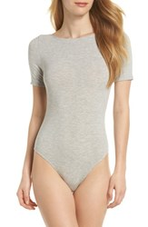 Felina Crisscross Back Bodysuit Heather Grey