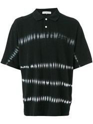 Gosha Rubchinskiy Oversized Tie Dye Stripe Polo Shirt Black