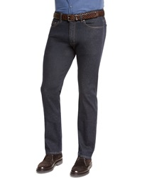 Ermenegildo Zegna Five Pocket Stretch Denim Jeans Navy