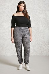 Forever 21 Plus Size Marled Sweatpants Charcoal
