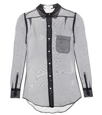 Thom Browne Silk Shirt Blue
