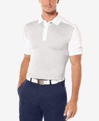 Callaway Men's Athletic Colorblocked Golf Polo High Rise Grey