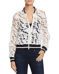 Lucy Paris Grace Lace Bomber Jacket 100 Bloomingdale's Exclusive White