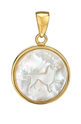 Asha Women's Zodiac Mother Of Pearl Charm Leo