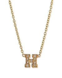Zoe Chicco Pave Diamond Initial Pendant Necklace H